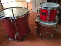 "Pearl / Cannon drum toms 10"", 13"", 16"" with free 22"" bass drum"
