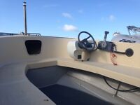 Alaska 500 Fishing Boat with Yamaha 55hp two stroke engine.