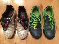 ADIDAS PREDATOR FOOTBALL BOOTS/CLARKS TRAINERS SIZE 3.5/4 BOYS SPORTS SHOES