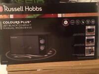 Russell Hobbs Microwave Colour Plus Jet Black