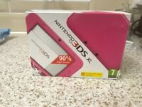 Pink 3DS XL with games for sale