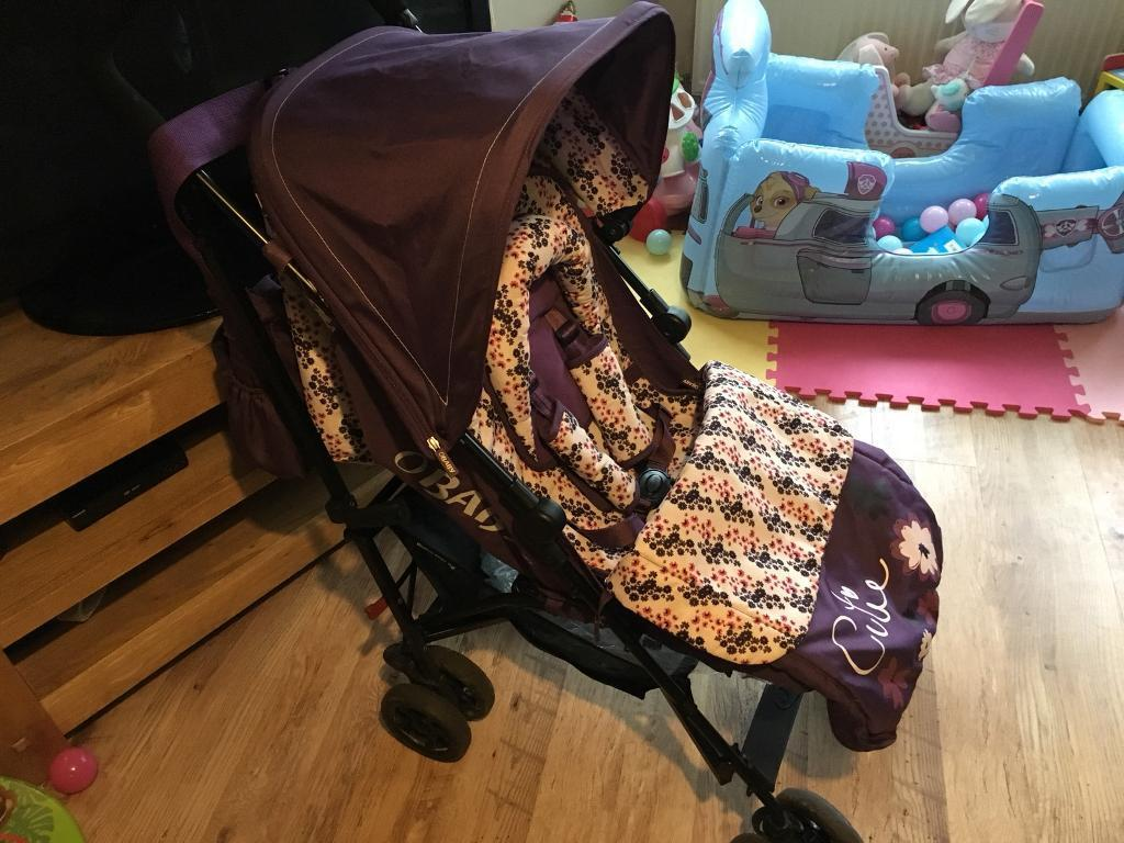 OBaby pushchair buggy purple