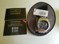 Citizen Eco-Drive BL8000-54L Calibre 8700 Stainless Steel Bracelet Watch NEW Warranty