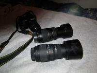 Two telephoto/macro lens Sigma & Tamron