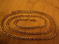 Solid heavy 23.3 grams 9ct gold 24 inch unisex link necklace / chain