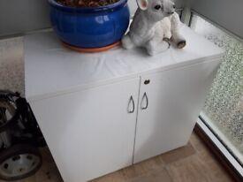 Sturdy Cabinet White Lockable