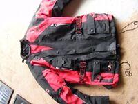 akito fully padded motorcycle jacket xl