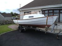 Drascombe Sailing Boat with Trailer and Engine