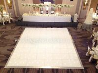 Dancing Floors - White LED dance floor hire
