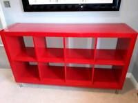 High Gloss Red IKEA shelving unit