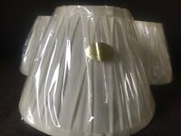 Cream pure silk lampshade for table lamp.