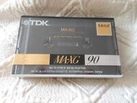TDK MA-XG Metal Tape 90 Sealed Brand New- RARE