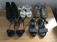 5 Pairs of girls size 1 shoes