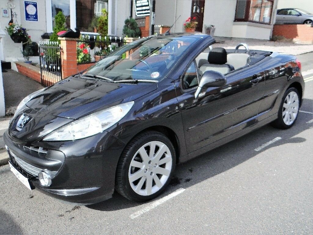 Peugeot 207CC, Stunning Metalic Black, LOW Mileage 46k, MOT May 18, Hard Top Convertible, Alloys, CD