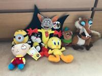 Various Character Soft Toys