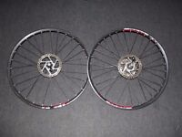 """Pair Of Mountain Bike Disc Wheels 26"""" Specialized Hubs DT Swiss Rims"""