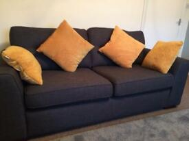 DFS three seater sofa. X 2