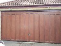 Double hardwood garage door