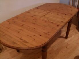 Ducal Solid Pine Extending Table seating 6-8 people