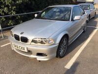 2002 BMW320ci M///silver with black leather/xenons/immobiliser/parking /sensors/ect ect...........