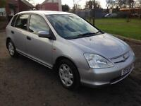 BARGAIN!! 2001 Honda Civic 1.6 1 YEAR MOT! Only 2 Owners ONLY £495!!!