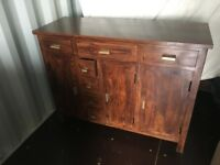 Solid wood sideboard Walnut