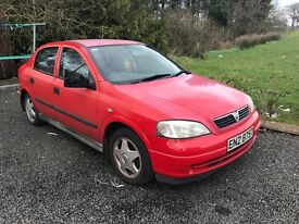 Vauxhall Astra red petrol 1.6