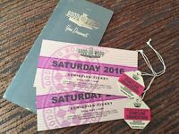 Goodwood revival tickets, Saturday + row F start straight grandstand entrance