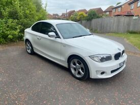 image for BMW 1 Series Coupe, 2L Diesel in alpine white