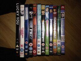 Random DVDs pile