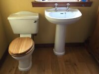 Toilet and wash basin