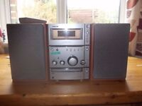 Sony midi music centre, good condition, and sound quality, ideal for work shop, spare room