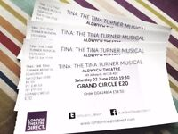 Tina Turner the musical theatre tickets x 4