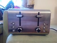 4 Slice Toaster - Stainless Steel