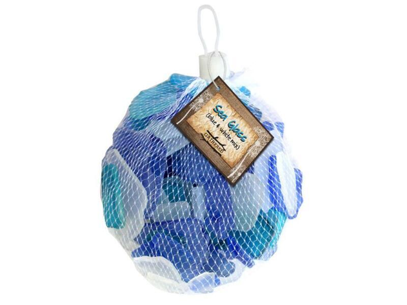 BCI CRAFTS BCI53499  GATHERED SEA GLASS MIX BLUE WHITE