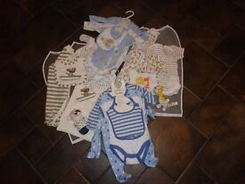 New Baby boy kits + baby bibs. Size 0-3 months.