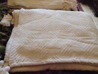 Large Cream throw Sofa or bed - collect Happisburgh