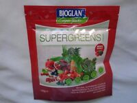 Bioglan SUPERGREENS High Nutrient Superfood Powder 100g. Berry Burst. Drink Or Eat
