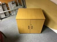 *REDUCED PRICE FOR A LIMITED TIME* Large Beach Wood Effect Filing Cabinet/Cupboard: H72, D60, W79cm