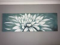 Teal Curtains, Rug and Canvas