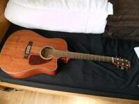 Electric acoustic Fender + extras
