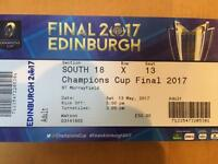Champion cup final tickets x 2