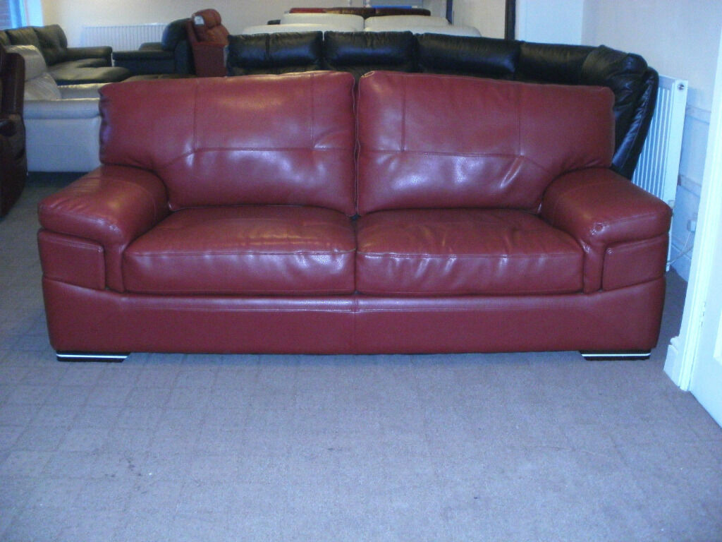 DIAMOND LEATHER ENDURANCE 3 SEATER SOFA + SWIVEL ARM CHAIR 182 £649