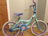"Girls 18"" Frozen bike & helmet"