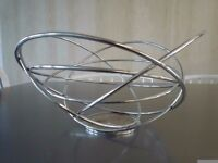 Atomic spun chrome tube wire fruitbowl designed by Aero – Great table centrepiece