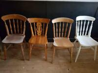 SOLID PINE FARMHOUSE CHAIRS £7 EACH NO OFFERS