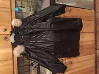 The Leather Ranch Leather Jacket. Size 14/16