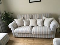 3 Seater sofa with armchair. Plus matching ottoman.