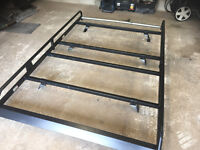 ford transit connect van roof rack with rear roller