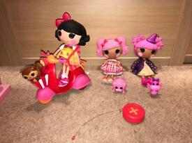 Lalaloopsy dolls, Pets and RC scooter Remote Control